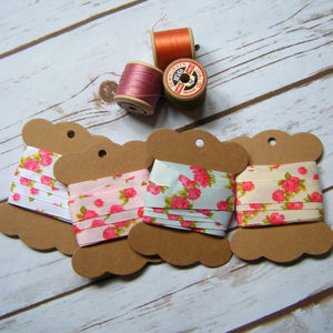 Floral Rose Bunting Ribbon Wedding Favours Gifts Craft - ribbon & wrap