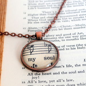 The Music In My Soul Pendant Music Inspired