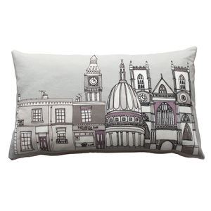 London Buildings Cushion - bedroom