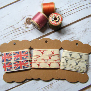 Stag Head Union Jack British Ribbon Gifts Craft