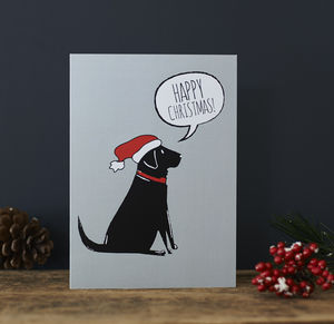 Black Labrador Christmas Card - cards & wrap