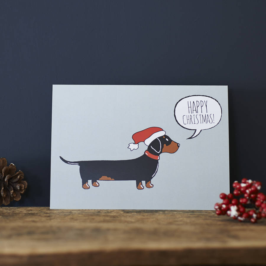 dachshund / sausage dog christmas card by sweet william designs ...