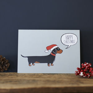 Dachshund / Sausage Dog Christmas Card