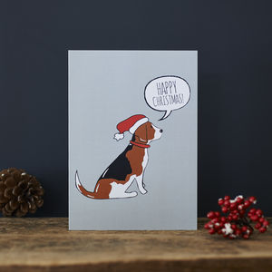 Pack Of Six Beagle Christmas Cards