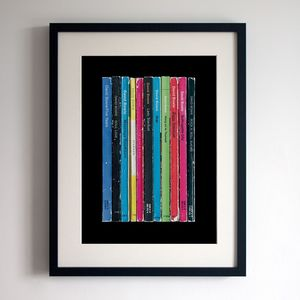 David Bowie Ziggy Stardust Album As Books Poster - art & pictures