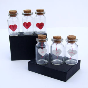 Three Little Words In Three Little Bottles - 1st anniversary: paper