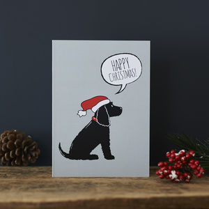 Pack Of Six Cocker Spaniel Christmas Cards