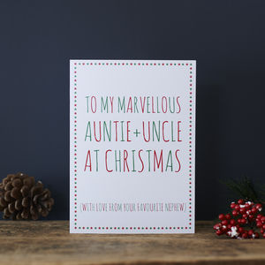 Auntie And Uncle Favourite Christmas Card
