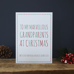 Grandparents Favourite Christmas Card - cards