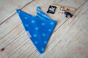 Blue Reversible Bandana Bib