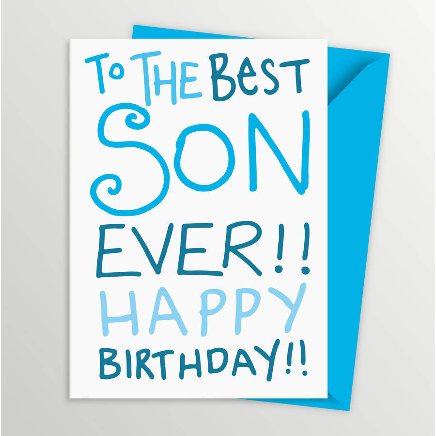 Birthday Card For Son By A Is For Alphabet