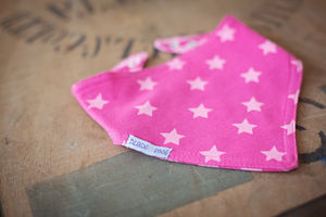 Pink Whale And Cupcake Matching Reversible Bandana Bib