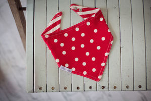 Strawberry Matching Reversible Bandana Bib