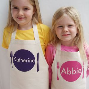 Personalised Girl's Apron - children's cooking