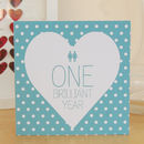 Civil Partnership First Year Anniversary Card