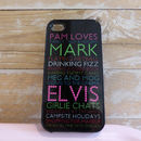 Personalised Case For IPhone In Black