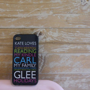 Personalised Case For IPhone In Black - tech accessories for her