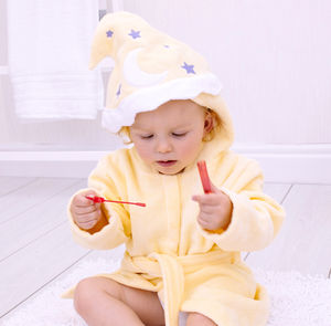 Personalised Magician Children's Bath Robe - swimwear