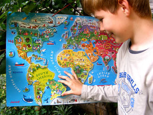 Large Magnetic World Map - toys & games