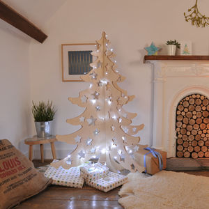 Alternative Wooden 4ft Christmas Tree - christmas trees