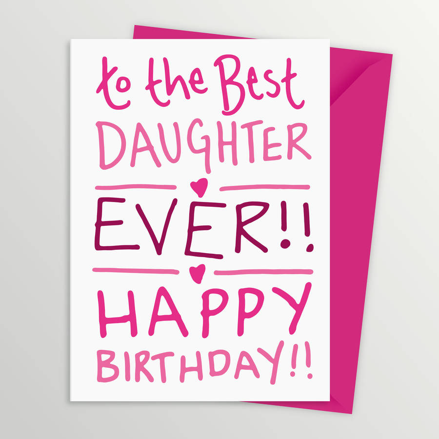 birthday card for best daughter by a is for alphabet, Birthday card