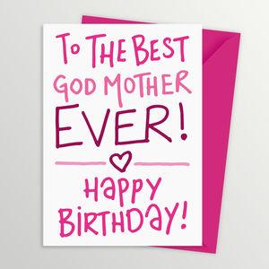 Birthday Card For Godmother - birthday cards