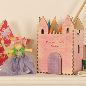 Personalised Princess Castle Desk Tidy