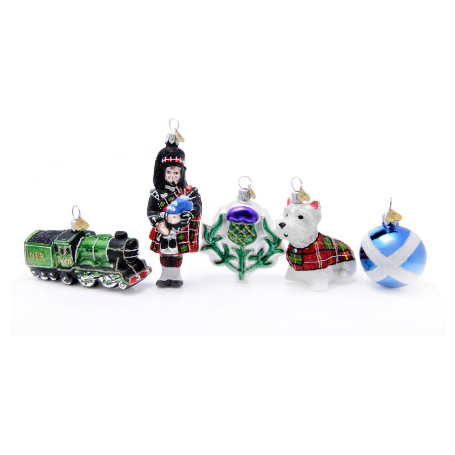 little scotland christmas decoration by bombki | notonthehighstreet.com