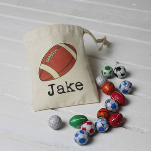 Personalised Bag Of Sweets For Sports Fans