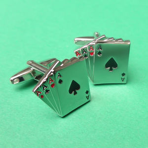 Playing Cards Cufflinks 'Four Aces' - styling your day