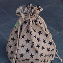 Black Star Christmas Sack