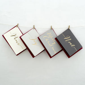 Luxury Hand Pressed Christmas Cards - shop by category
