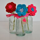 Single Stem Felt Flower In Bottle