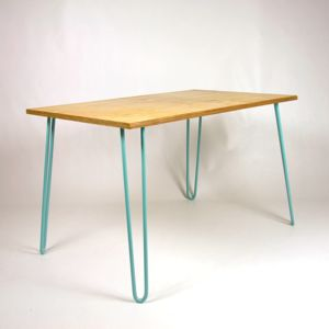Dining Table, Industrial, Hairpin Legs, Plywood - kitchen