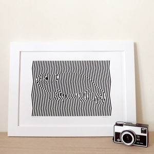 Carl The Chameleon Magic Eye Screen Print - modern & abstract