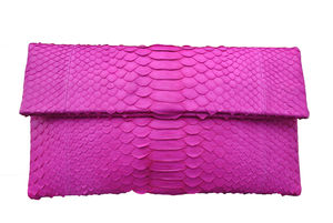 Pink Python Clutch - bags & purses