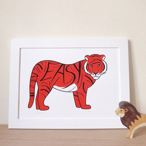 Tiger Screen Print - posters & prints