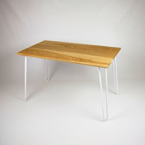 Dining Table With Industrial Hairpin Legs In Oak