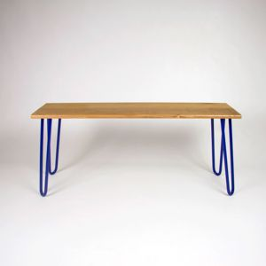 Bench With Industrial Hairpin Legs In Oak
