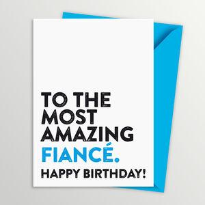 Fiance Birthday Card - general birthday cards