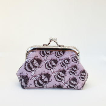 Purple Bee Coin Purse