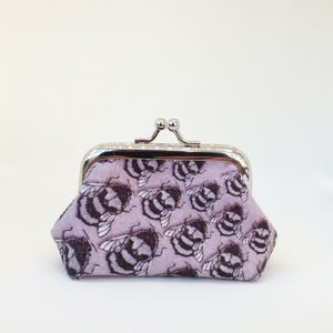 Purple Bee Coin Purse - purses