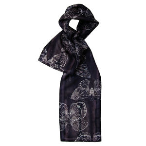 Butterfly Moth Luna Long Silk Scarf