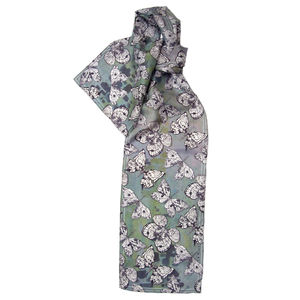 Moth Papilio Long Silk Scarf