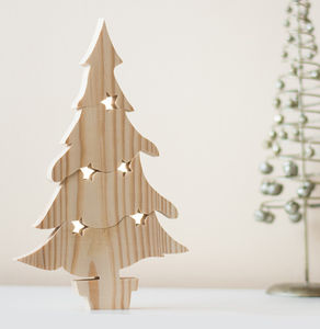 Wooden Christmas Tree Puzzle Ornament