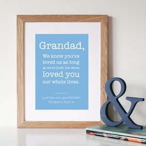 Personalised Grandad Quote Print - home accessories