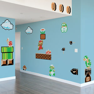 Super Mario Bros By Nintendo - wall stickers