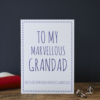Grandad Favourite Grandchild Card