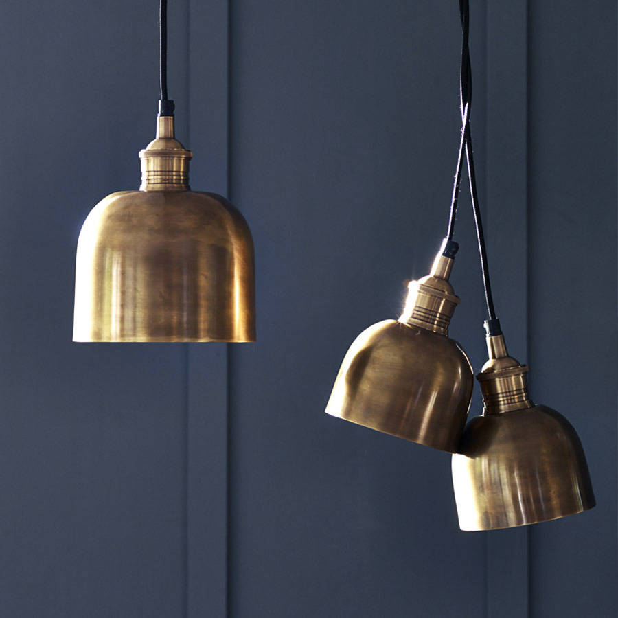 Flori Brass Pendant Light By Rowen & Wren