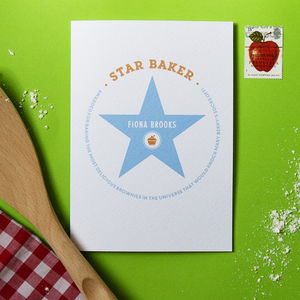 Personalised Star Baker Card - gifts for bakers